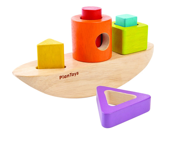 PlanToys - Wooden Sorting Boat | KidzInc Australia | Online Educational Toy Store