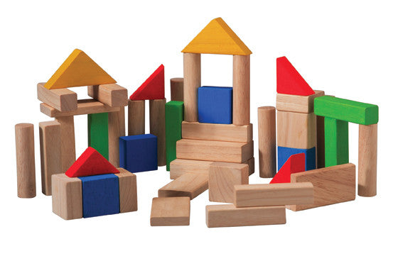 Plan Toys - 50 Blocks | KidzInc Australia | Online Educational Toy Store