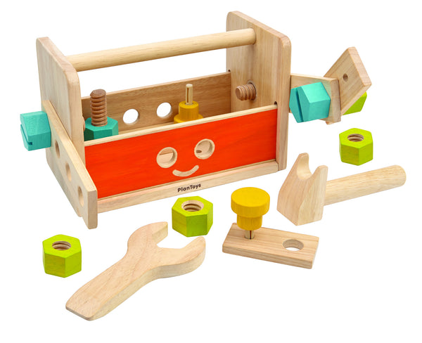 PlanToys - Robot Wooden Tool Box | KidzInc Australia | Online Educational Toy Store
