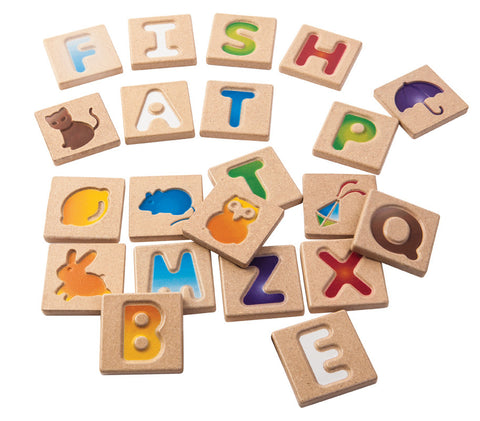 Plan Toys - Alphabet A-Z | KidzInc Australia | Online Educational Toy Store