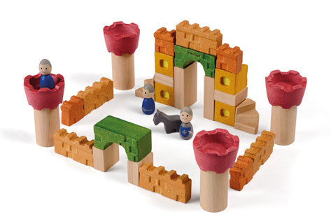 Plan Toys - Castle Blocks | KidzInc Australia | Online Educational Toy Store