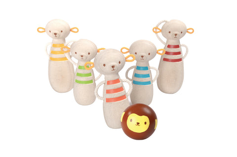 Plan Toys - Monkey Bowling | KidzInc Australia | Online Educational Toy Store