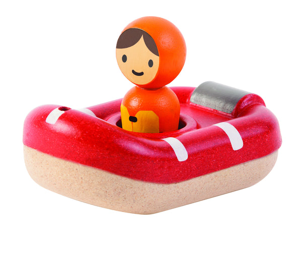 PlanToys - Coast Guard Boat Wooden Bath Toy | KidzInc Australia | Online Educational Toy Store
