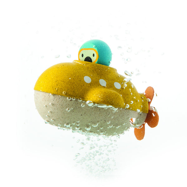 PlanToys - Submarine Wooden Bath Toy | KidzInc Australia | Online Educational Toy Store