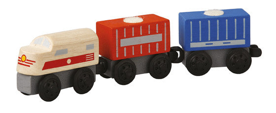 Plan Toys - Cargo Train | KidzInc Australia | Online Educational Toy Store