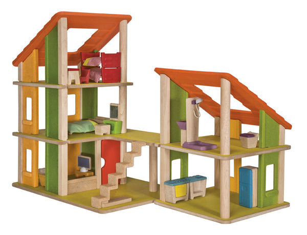 Plan Toys - Chalet Dollhouse with Furniture | KidzInc Australia | Online Educational Toy Store