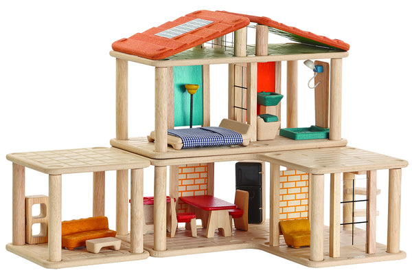 PlanToys - Creative Wooden Doll House | KidzInc Australia | Online Educational Toy Store