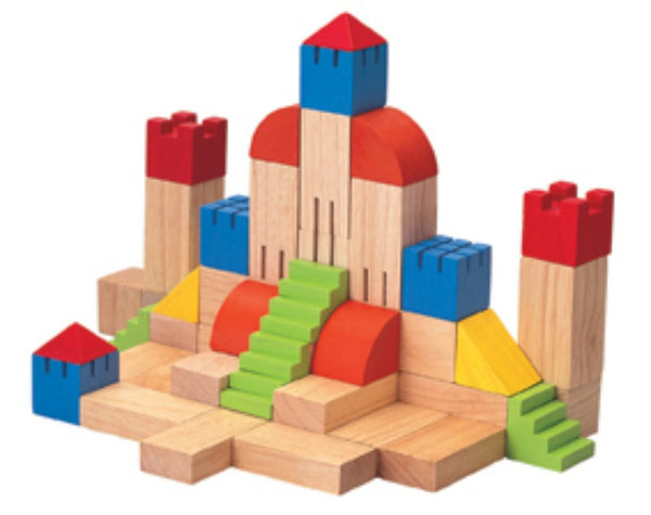 Plan Toys - Creative Blocks - 46pcs | KidzInc Australia | Online Educational Toy Store