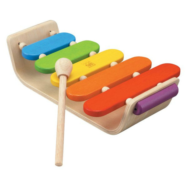 Plan Toys - Oval Xylophone | KidzInc Australia | Online Educational Toy Store