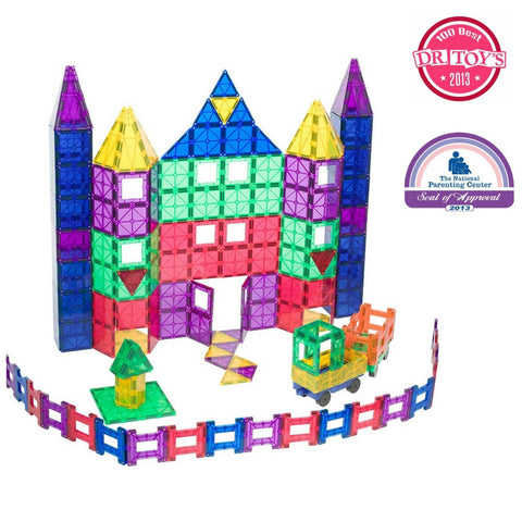 Playmags - Super Mags Clear Colours 150 Piece Set + 18 piece Clickins | KidzInc Australia | Online Educational Toy Store