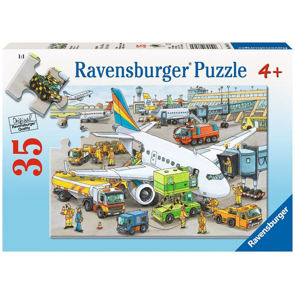 Ravensburger 35 pc -Busy Airport Puzzle | KidzInc Australia | Online Educational Toy Store