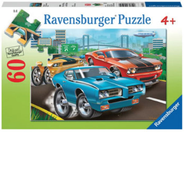 Ravensburger 60 pc -Muscle Cars Puzzle | KidzInc Australia | Online Educational Toy Store
