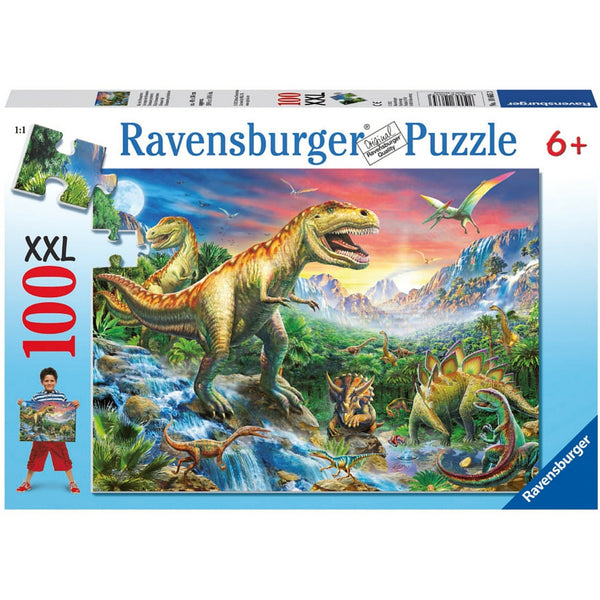 Ravensburger 100 pc -Time of the Dinosaurs Puzzle | KidzInc Australia | Online Educational Toy Store