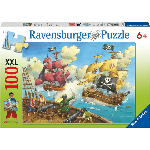 Ravensburger 100 pc -Pirate Battle Puzzle | KidzInc Australia | Online Educational Toy Store