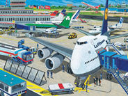 Ravensburger 100 pc - Airport Puzzle | KidzInc Australia | Online Educational Toy Store