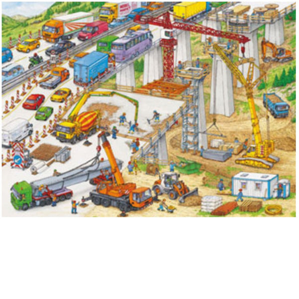 Ravensburger 100 pc -Construction Site Puzzle | KidzInc Australia | Online Educational Toy Store