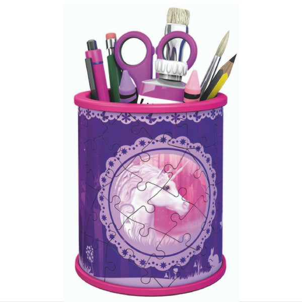 Ravensburger - 3D Puzzle: Unicorn Utensil Holder Girly Girl 54 Pieces | KidzInc Australia | Online Educational Toy Store