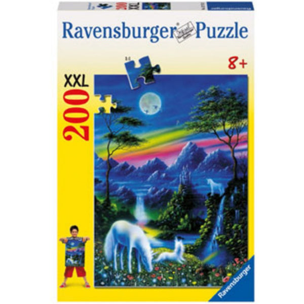 Ravensburger 200 pc -Unicorns in Moonlight Puzzle | KidzInc Australia | Online Educational Toy Store