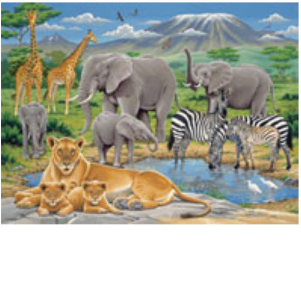 Ravensburger 200 pc -Animals In Africa Puzzle | KidzInc Australia | Online Educational Toy Store