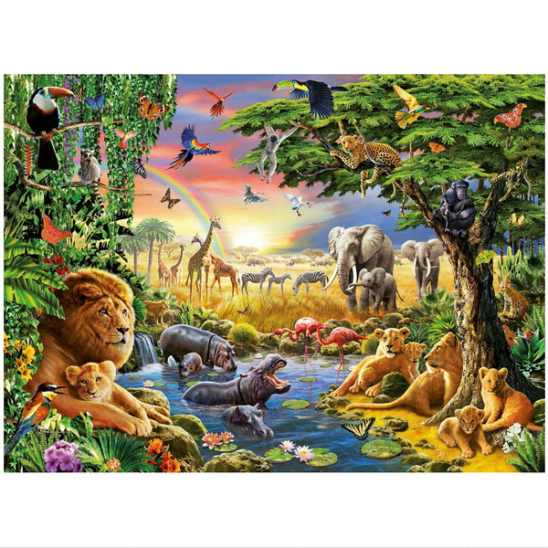 Ravensburger 300 pc -At the Watering hole Puzzle | KidzInc Australia | Online Educational Toy Store