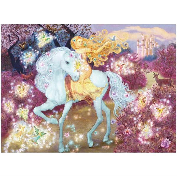 Ravensburger 100 pc -Riding in the Woods Glitter Puzzle | KidzInc Australia | Online Educational Toy Store