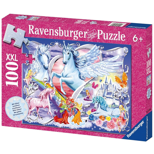 Ravensburger 100 pc -Amazing Unicorns Glitter Puzzle | KidzInc Australia | Online Educational Toy Store