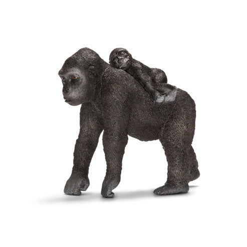 Schleich - Gorilla Female with Baby | KidzInc Australia | Online Educational Toy Store