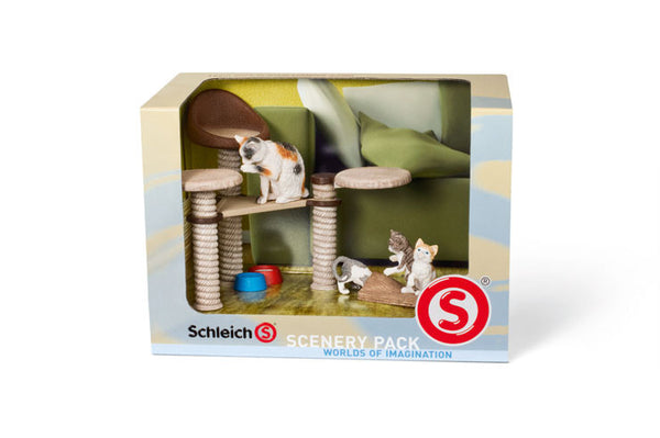 Schleich - Scenery Pack - Cats | KidzInc Australia | Online Educational Toy Store
