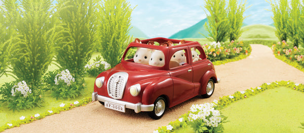 Sylvanian Families - Family Saloon Car - Red | KidzInc Australia | Online Educational Toy Store