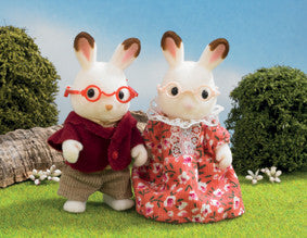 Sylvanian Families - Chocolate Rabbit Grandparents | KidzInc Australia | Online Educational Toy Store