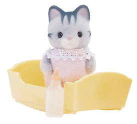 Sylvanian Families - Gray Cat Baby | KidzInc Australia | Online Educational Toy Store