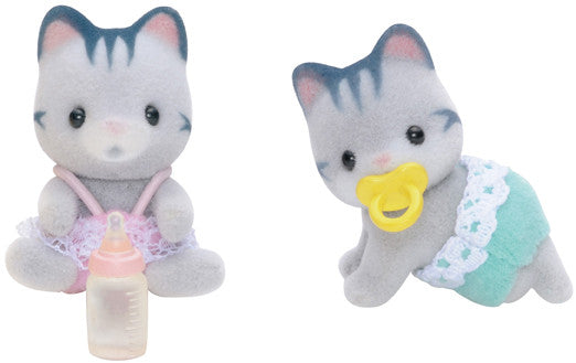 Sylvanian Families - Gray Cat Twins | KidzInc Australia | Online Educational Toy Store