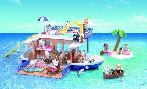 Sylvanian Families - Seaside Cruiser Houseboat | KidzInc Australia | Online Educational Toy Store