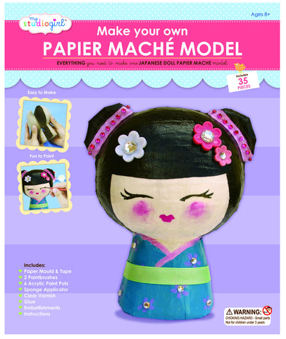 My Studio Girl - Make-Your-Own Papier Mache Japanese Doll Model | KidzInc Australia | Online Educational Toy Store