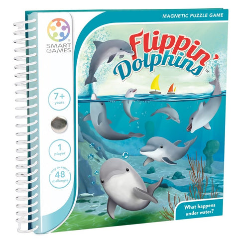 Smart Games Flippin Dolphins Magnetic Travel Game | KidzInc Australia | Online Educational Toys