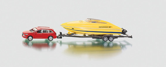 Siku - Car with Motorboat - 1:55 Scale | KidzInc Australia | Online Educational Toy Store
