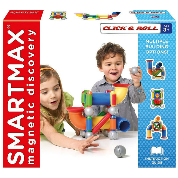 SmartMax Magnetic Discovery - Click and Roll 30 Piece | KidzInc Australia | Online Educational Toy Store