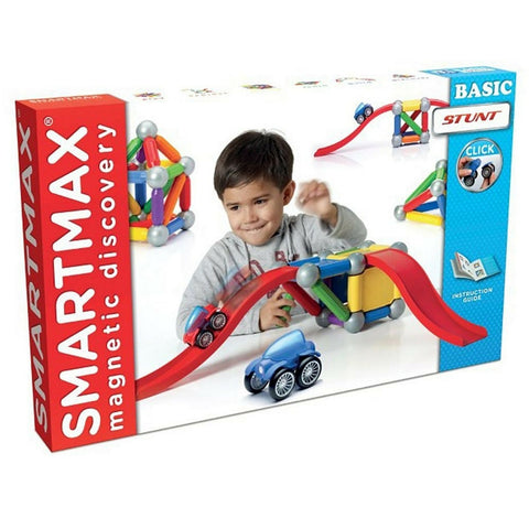 SmartMax Magnetic Discovery - Basic Stunt 48 Piece | KidzInc Australia | Online Educational Toy Store