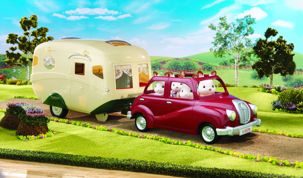 Sylvanian Families - Family Saloon Car and Caravan | KidzInc Australia | Online Educational Toy Store
