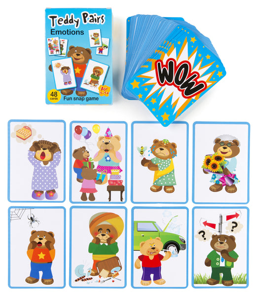 Top Class - Teddy Pairs Emotions Snap Game | KidzInc Australia | Online Educational Toy Store