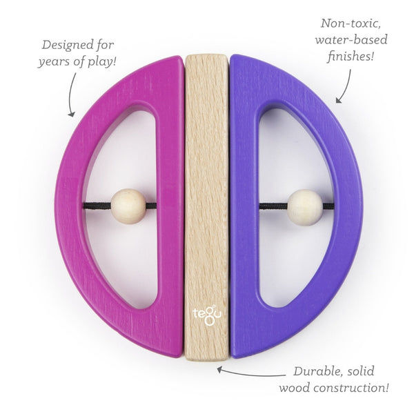 Tegu Swivel Bug: Pink & Purple | KidzInc Australia | Educational Toys