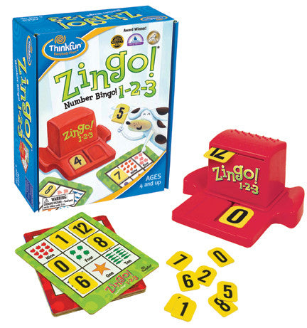 ThinkFun - Zingo! 1-2-3 Game | KidzInc Australia | Online Educational Toy Store