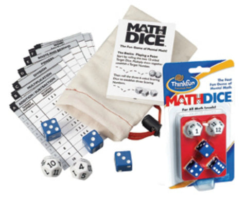 ThinkFun - Math Dice Game | KidzInc Australia | Online Educational Toy Store