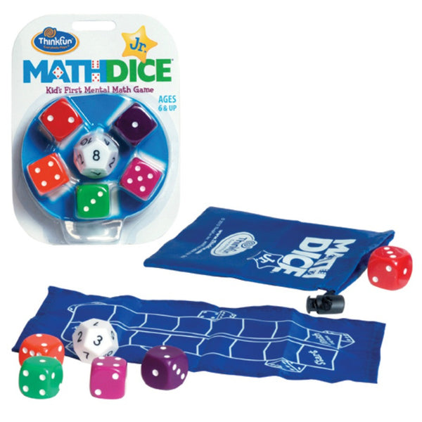 ThinkFun - Math Dice Jr. Game | KidzInc Australia | Online Educational Toy Store