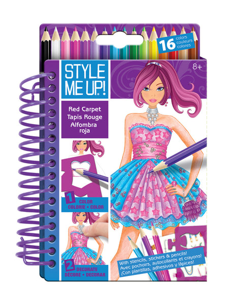 Style Me Up - Sketch-to-Go Red Carpet | KidzInc Australia | Online Educational Toy Store
