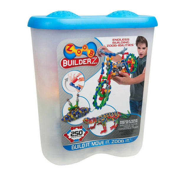 ZOOB - BuilderZ 250 Piece Bucket | KidzInc Australia | Online Educational Toy Store