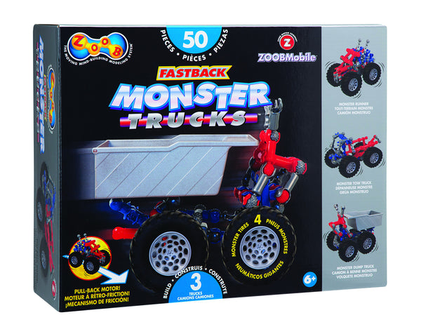 ZOOB Fastback Monster Trucks (50 Pieces) | KidzInc Australia | Online Educational Toy Store
