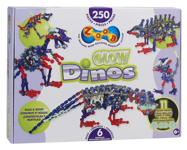 ZOOB Glow Dinos (250 Pieces) | KidzInc Australia | Online Educational Toy Store