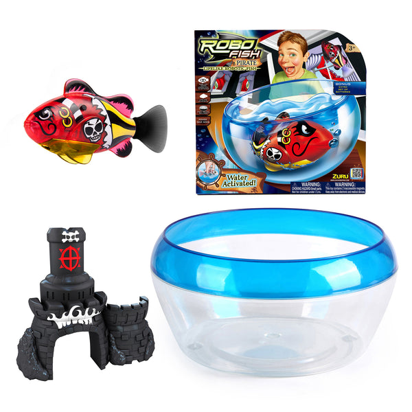 Zuru - RoboFish Pirates Castle & Bowl | KidzInc Australia | Online Educational Toy Store