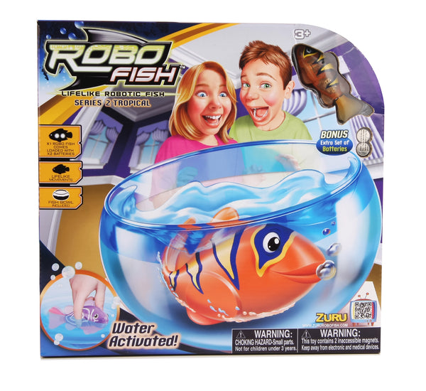 Zuru - RoboFish Tropical Fish & Bowl | KidzInc Australia | Online Educational Toy Store